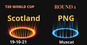 PNG vs Scotland live scores t20 world cup